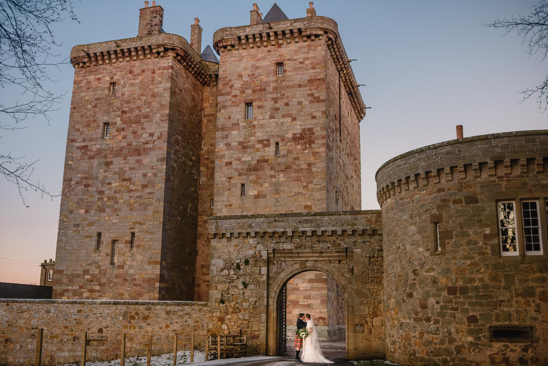 Christmas Wedding Borthwick Castle