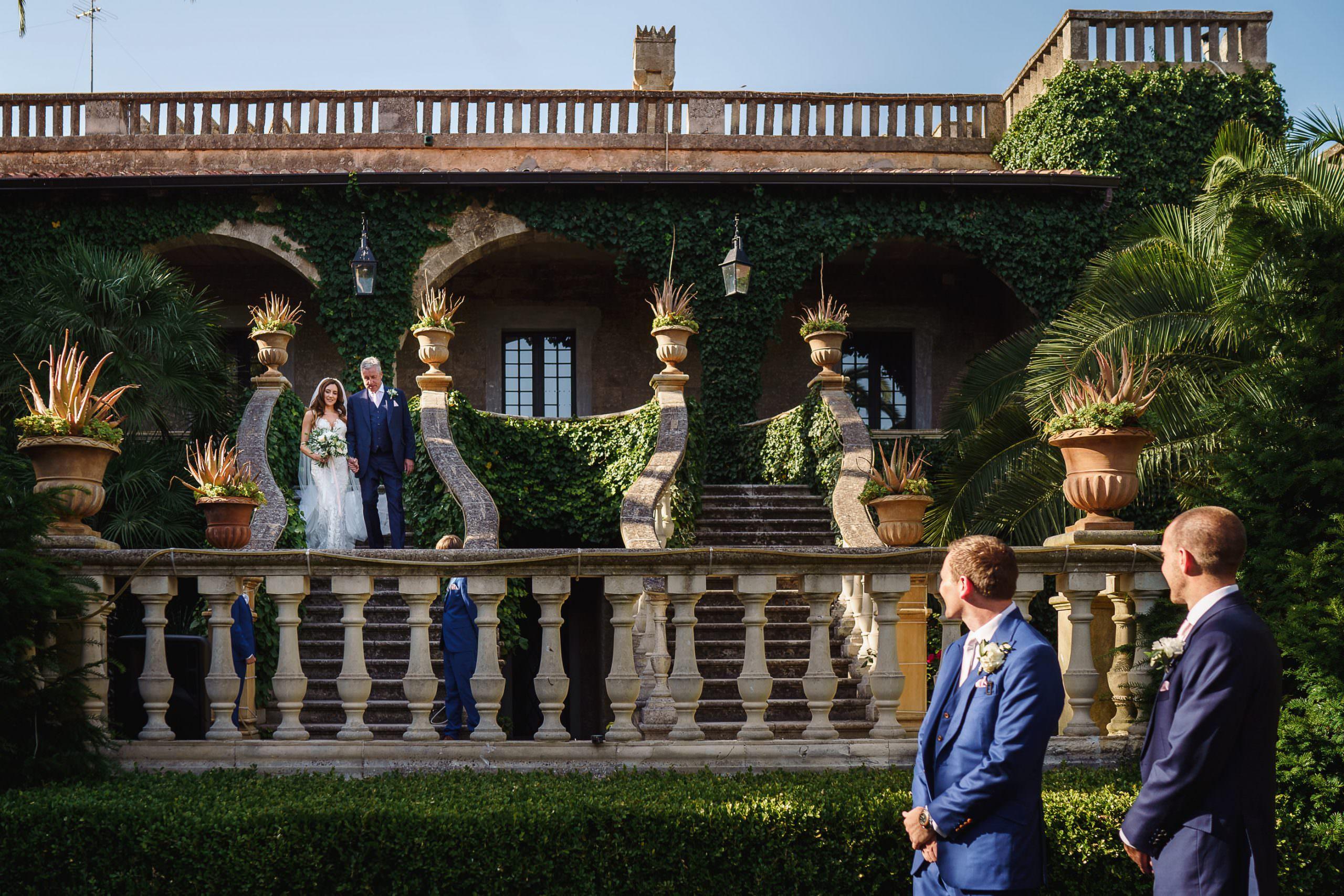 Castello Monaci outdoor wedding